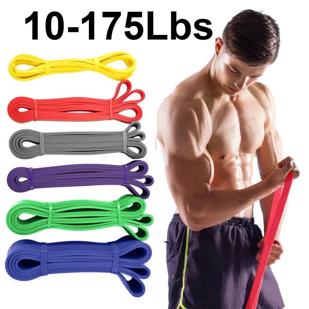 ยางยืดออกกําลังกาย ยางยืดออกกำลัง ยางยืดสำหรับออกกำลังกาย ฟิตเนส แรงต้านน้ำหนัก มีให้เลือก 6 ระดับ