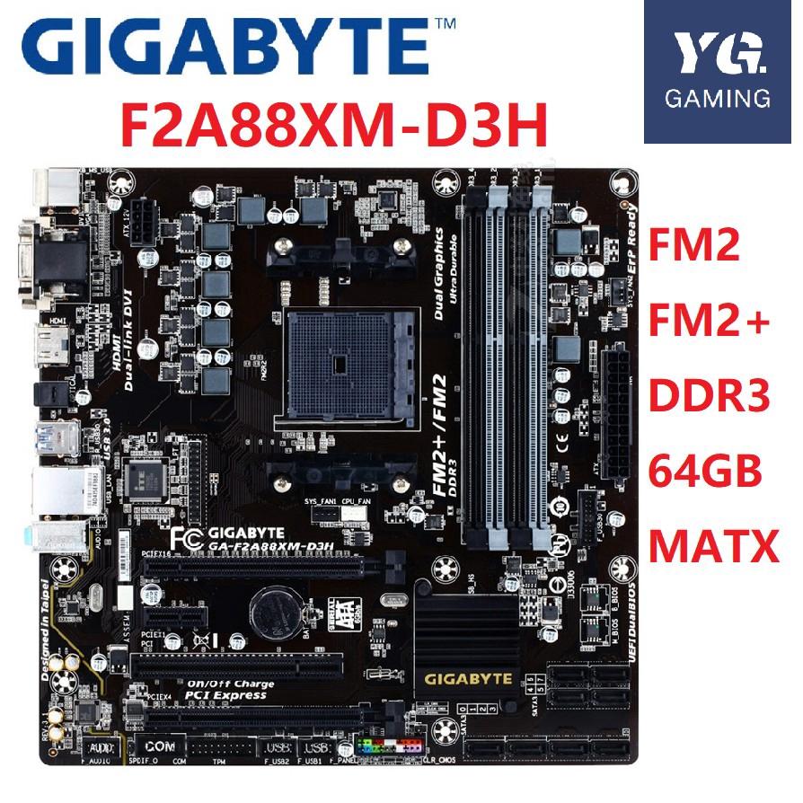 Motherboard AMD A88X DDR3 Micro ATX Gigabyte GA-F2A88XM-HD3 Socket FM2