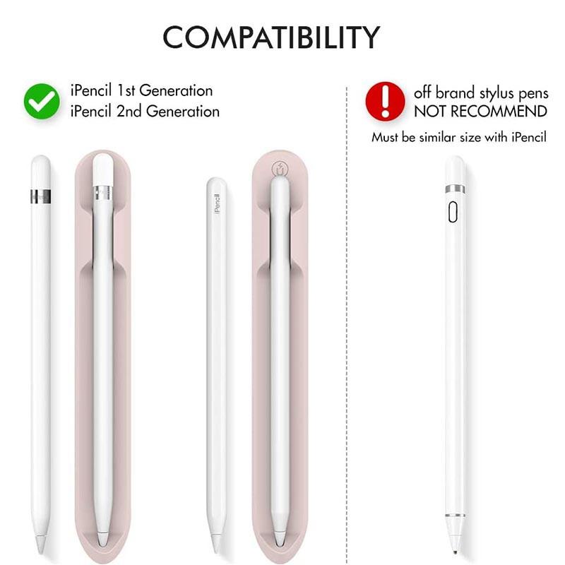 ✈◎✣ปลอกใส่ดินสอของ Apple, Apple Pencil Holder Sleeve for 1st/2nd Generation, Strong Adhesive Silicone Sticker [Magneti