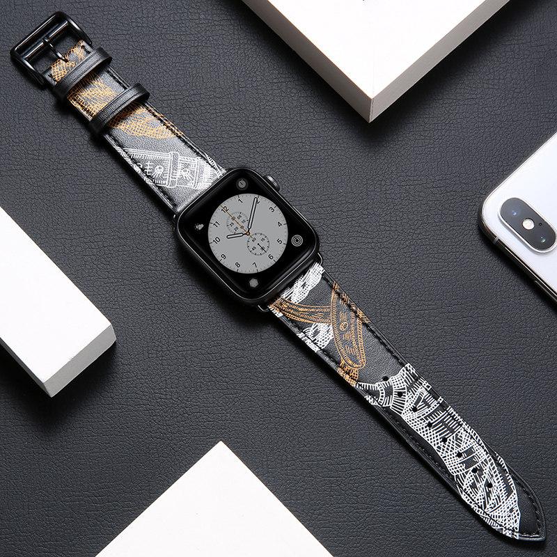 iWatch สายรัดบังคับapple watchสายนาฬิกา Apple หนังม้ารักiwatch3/2/4กับตัวแทน38/42/40/44mm seriesกีฬาwatch5รุ่นapplewatch