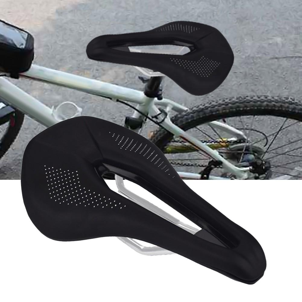 Carbon Fiber Seat Mountain Road Bike Bicycle Racing Hollow Seat Saddles Black
