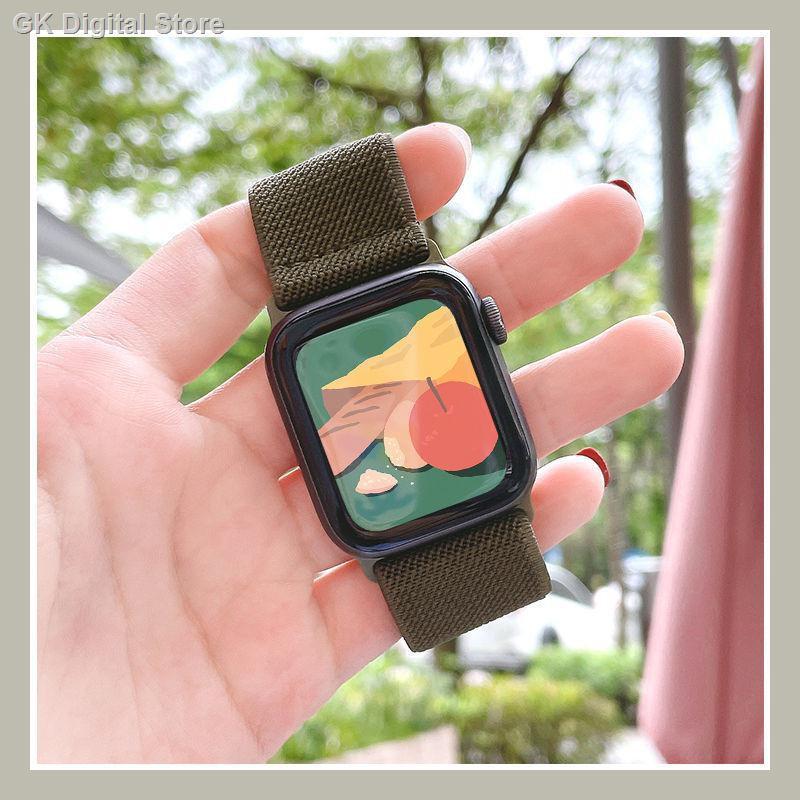 【อุปกรณ์เสริมของ applewatch】⊕สาย Applewatch ที่ใช้งานได้สาย แบบวนซ้ำสายนาฬิกา iwatch ใหม่ se / 6/5/4/3
