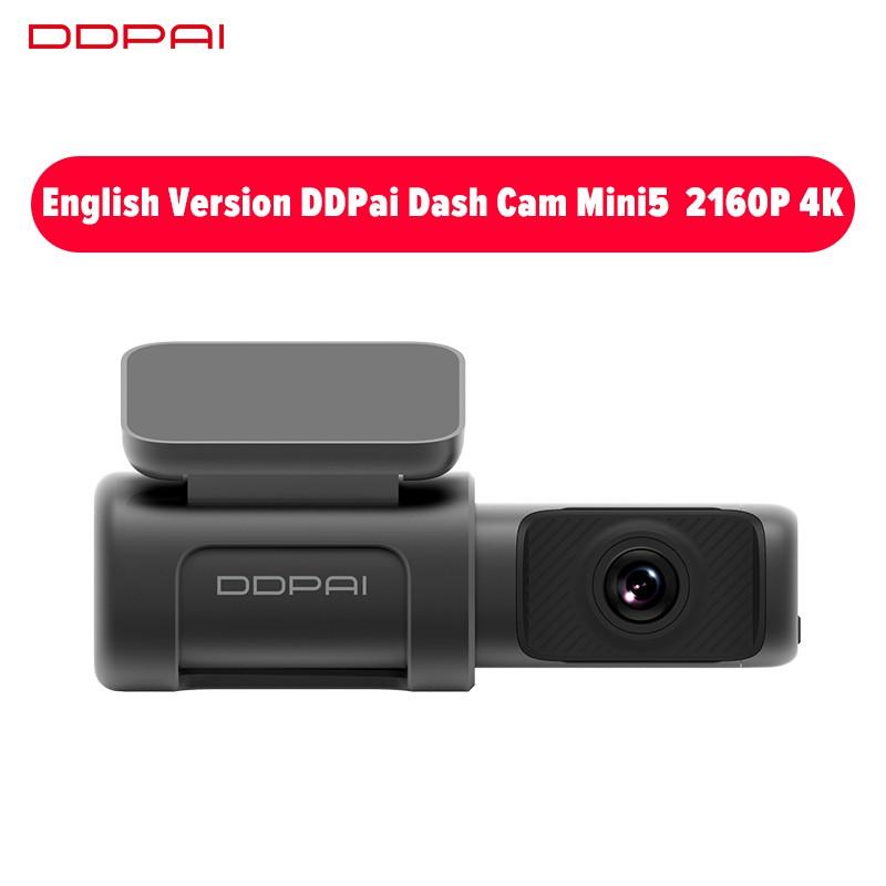 กล้องติดรถยนต์ ความละเอียดสูงสุด  DDPAI Mini 5 Dash Cam 4K 2160P UHD Speed & Coordinates GPS ADAS mini5 5GHz WiFi Car DVR Camera Night Vision Dashcam 24H Park