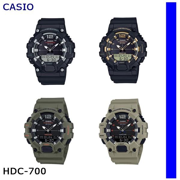 นาฬิกา CASIO นาฬิกาข้อมือทรงสปอต์ รุ่นHDC-700