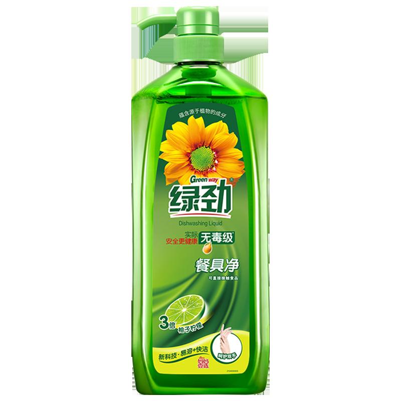 ▲สีเขียวจินผงซักฟอกครอบครัวแพ็คบ้านผงซักฟอกน้ำยาล้างจานกดขวดสารทำความสะอาดธุรกิจบนโต๊ะอาหารสุทธิถัง■