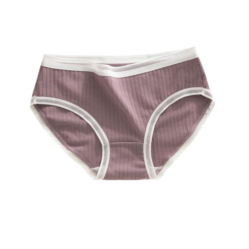 JKG กางเกงชั้นใน ผ้าฝ้าย แต่งลูกไม้น่ารัก สำหรับผู้หญิง