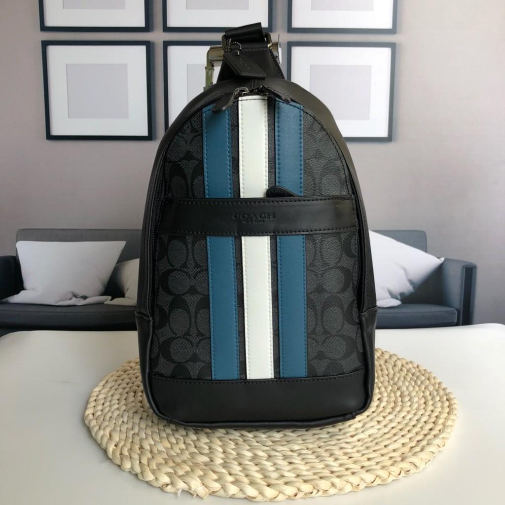 Coach กระเป๋าสะพายข้างผู้ชาย Crossbody Bags กระเป๋าสะพายข้าง กันน้ำ กระเป๋าสะพายข้าง New Fashion messenger bag