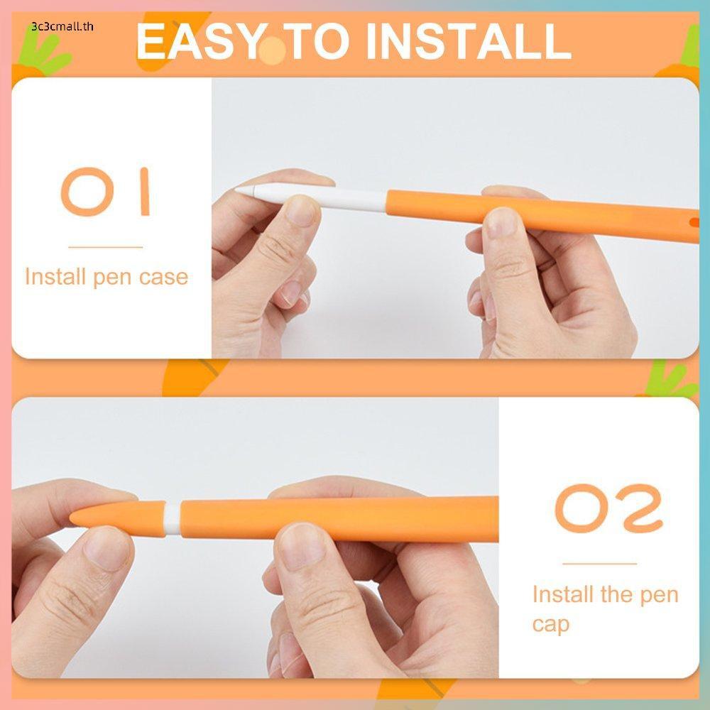 ✨ส่วนลดใหญ่✨Silicone Case For Apple Pencil 2nd Case Tablet Touch Stylus Protective Cover