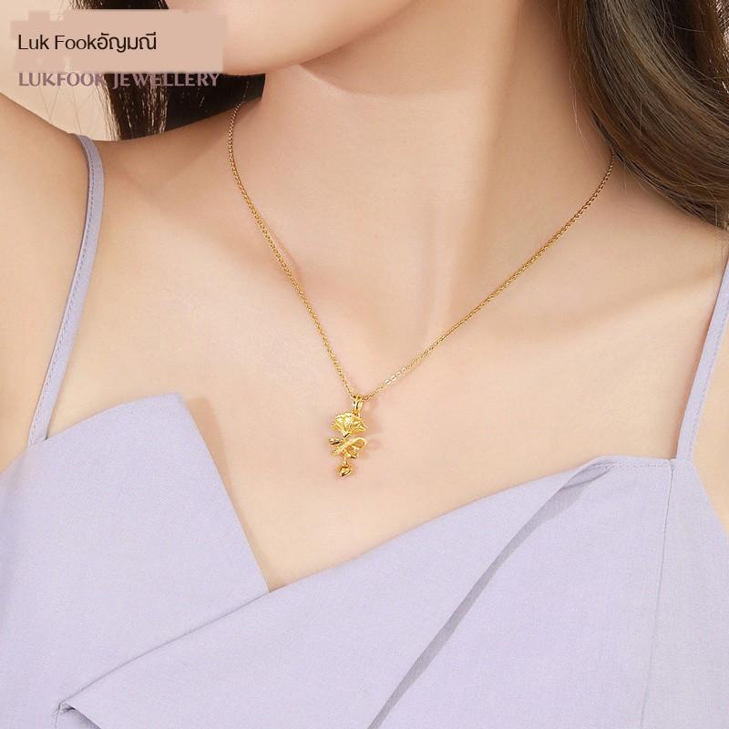 ∈Lukfook Jewelry จี้ทองคำแท้จี้สร้อยคอทองคำคาร์เนชั่นส่งแม่แท้ราคา GAG70003