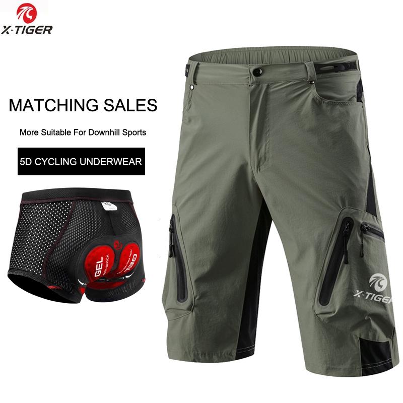 Men 5D GEL Breathable Pad MTB Cycling Half Pants Mountain Bike Bicycle Shorts UK