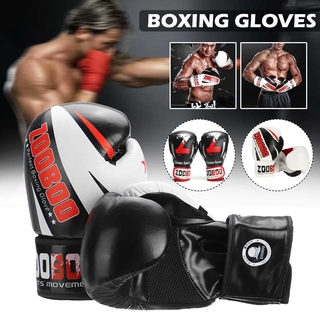 Boxing Gloves PU Leather MMA Fighting Kick Boxing Gloves Karate Muay Thai Training Workout Gloves Kids Men