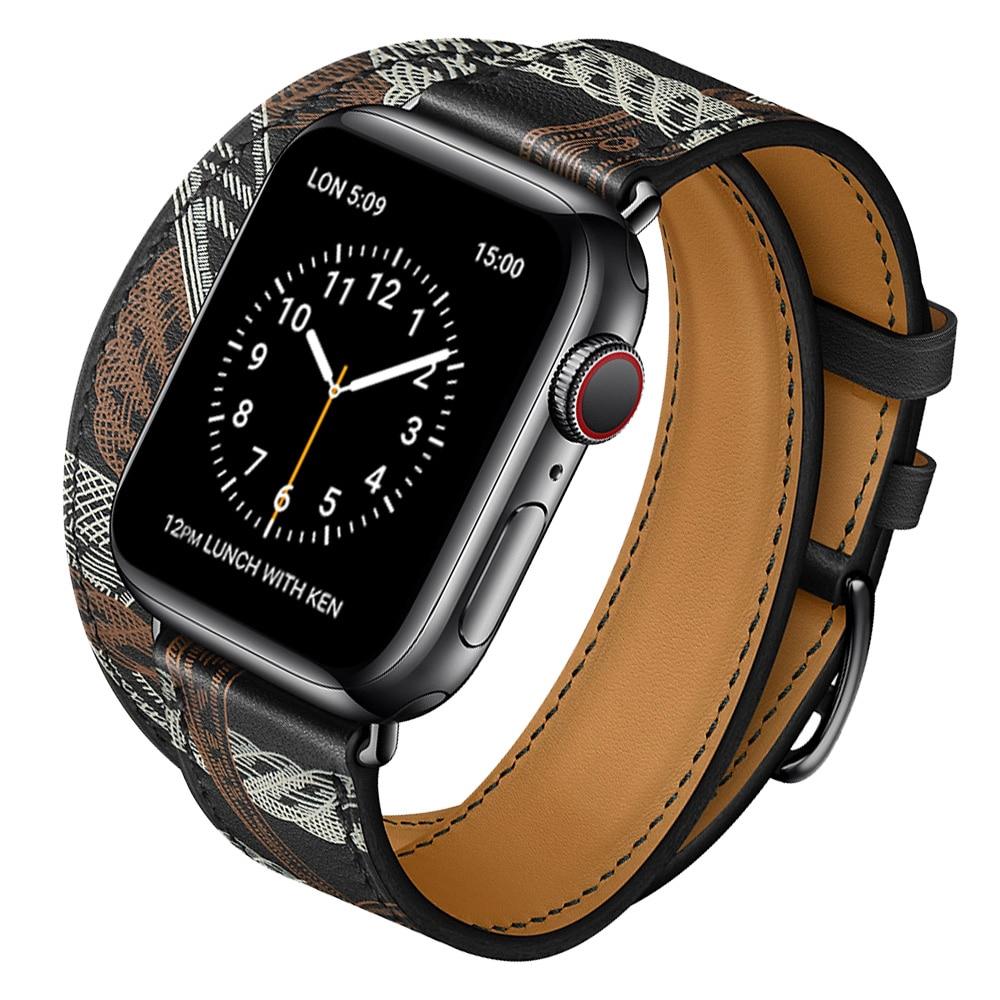 สายนาฬิกาข้อมือหนังวัวสําหรับ Apple Watch 5 Band 44 มม. Iwatch Series 4 3 2 1 42 มม.