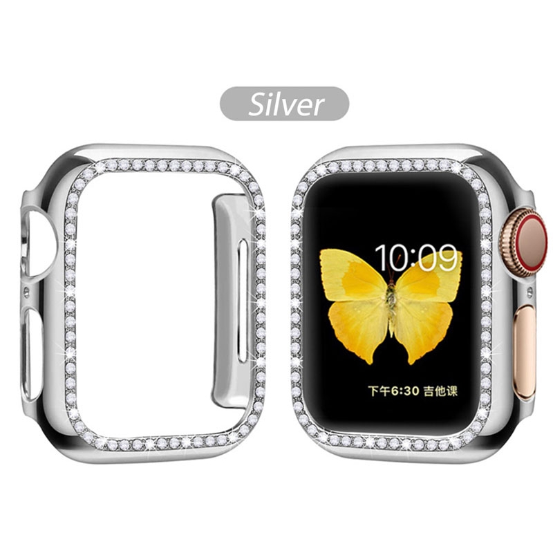 iWatch Protect Case Apple Watch Series 5 4 3 2 1 44mm 42mm 40mm 38mm Cover Diamond Ultra-thin Protector Cover