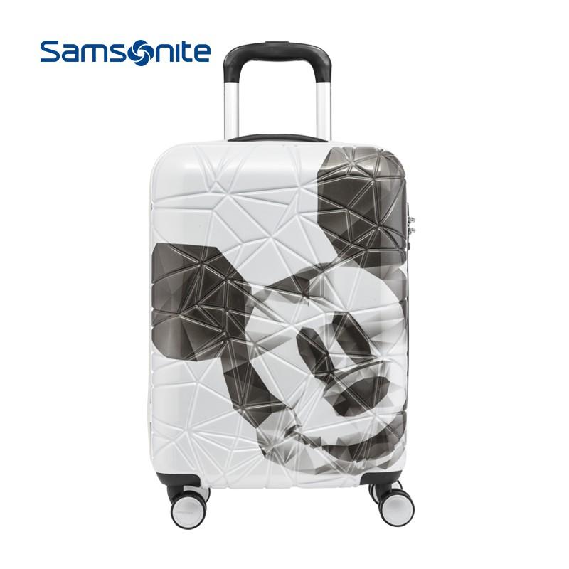 Samsonite/ใหม่ความงามมิกกี้ขยายรถเข็นกระเป๋าเดินทางกระเป๋าเดินทาง20/24/28นิ้วAF9