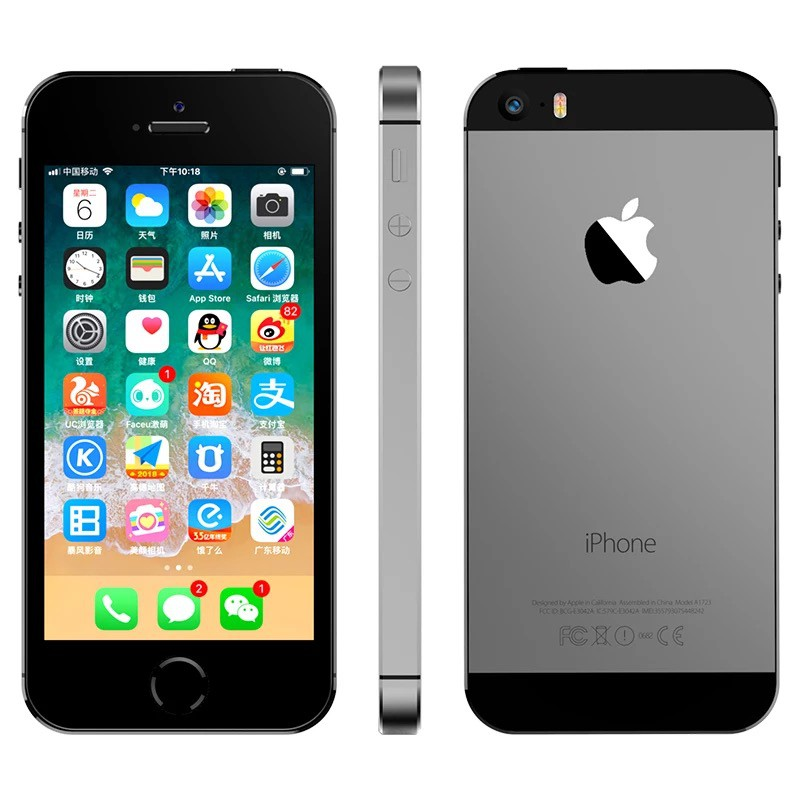 iPhone 5s 16gb 32gb Space สีเทาเงินทอง Fullset Second โทรศัพท์มือสองของแท้