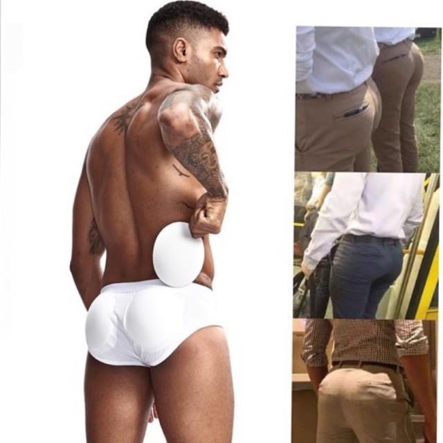 กางเกงเสริมก้น กางเกงเสริมก้นผู้ชาย หมดปัญหาก้นลีบ เป้าแฟ้บ กางเกงใน กางเกงเสริม เสริมตูดให้งอนสวย 男士丰臀提臀内裤男三角内裤可拆卸罩杯垫