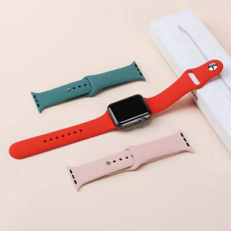 สายนาฬิกา# สำหรับสาย applewatch สายรัดซิลิโคนสำหรับสำหรับ AppleWatch Series 6 SE/5/4/3/2/1 ขนาด 38/40/42/44 มม
