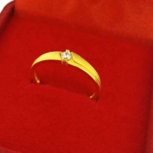 แหวนทองแท้96.5%ประดับพลอย หนักครึ่งสลึง