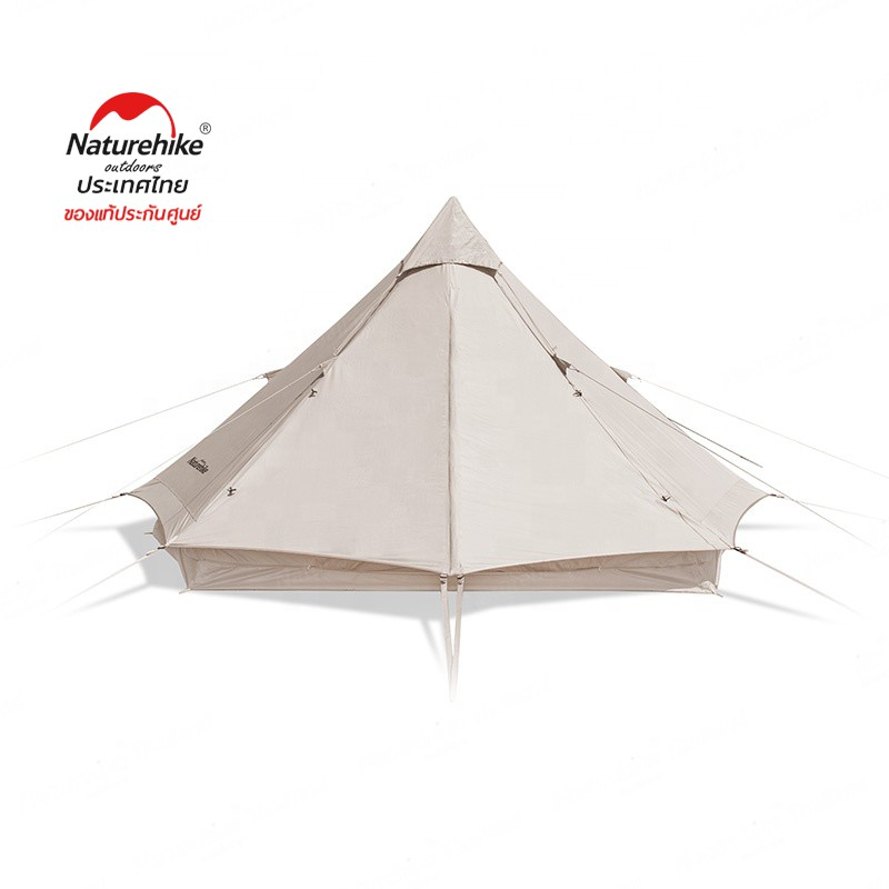 Naturehike Thailand Brighten 6.4 outdoor luxury glamping tipi Pyramid tent cotton canvas bell tent