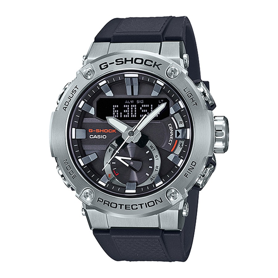 Casio G-Shock GST-B200 SERIES นาฬิกาข้อมือผู้ชาย สายเรซิ่น รุ่น GST-B200,GST-B200-1,GST-B200-1A - สีดำ