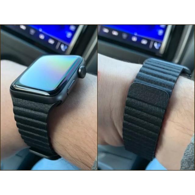 ✳▬✲พร้อมส่งจากไทย สายหนัง Apple Watch Leather Loop band ใส่ได้ทั้ง 6 series SE/6/5/4/3/2/1 มึทั้งขนาด 38/40 & 42/44mm