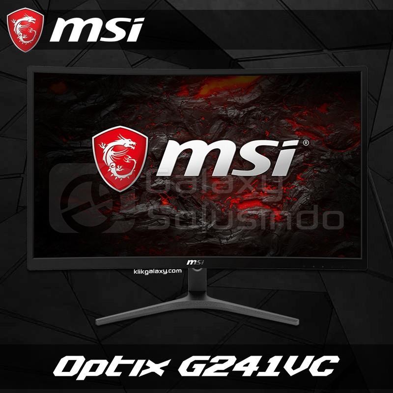 "Msi Optix G241vc 23.6 ""curved อุปกรณ์หน้าจอมอนิเตอร์สําหรับใช้ในการเล่นเกม"