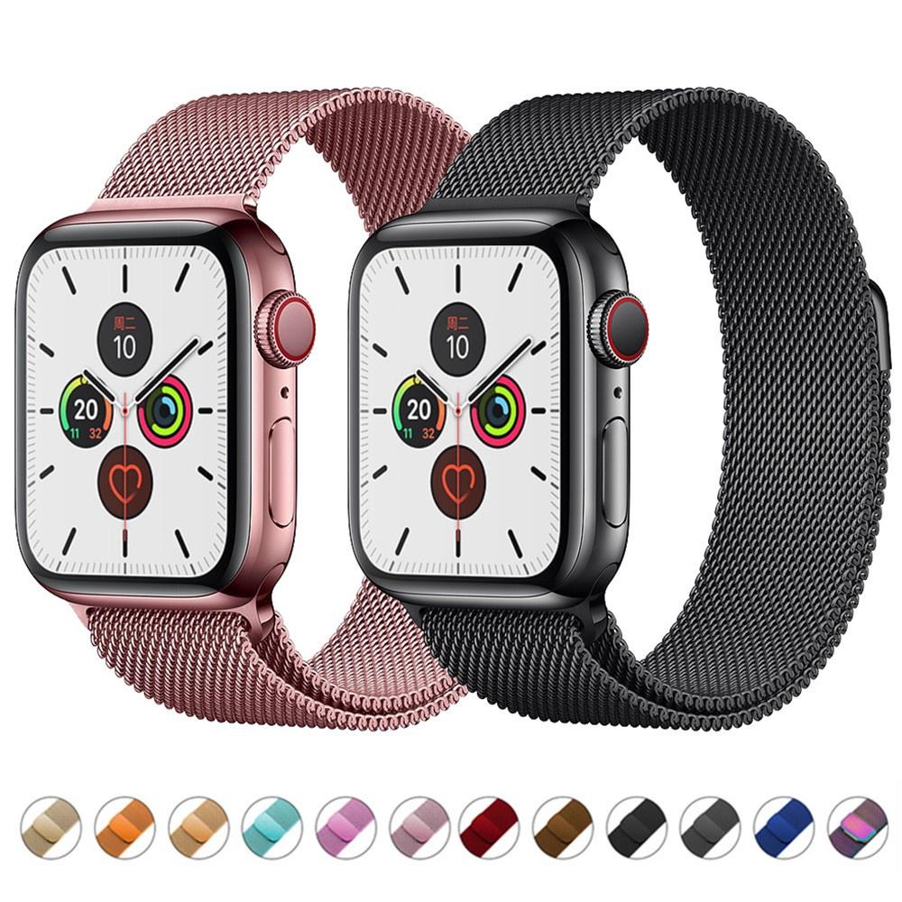 สาย applewatch สายนาฬิกา applewatch 42 มม. 38 มม. 40 มม. 44 มม. สาย สายนาฬิกาข้อมือ Apple Watch Milanese Series 6 SE 5 4