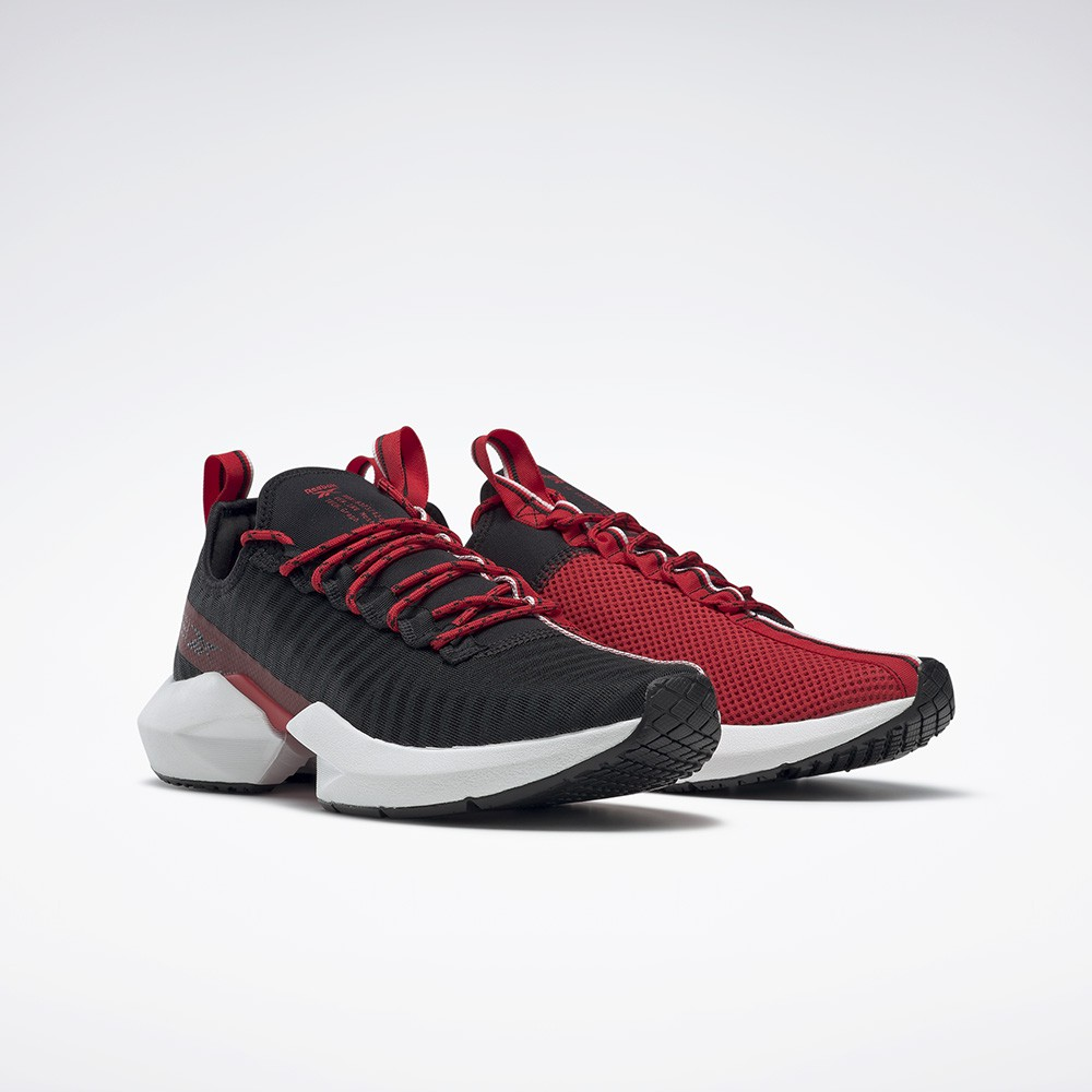 Reebok : รองเท้ากีฬา Unisex รุ่น Sole Fury สี Black/vector Red/white.