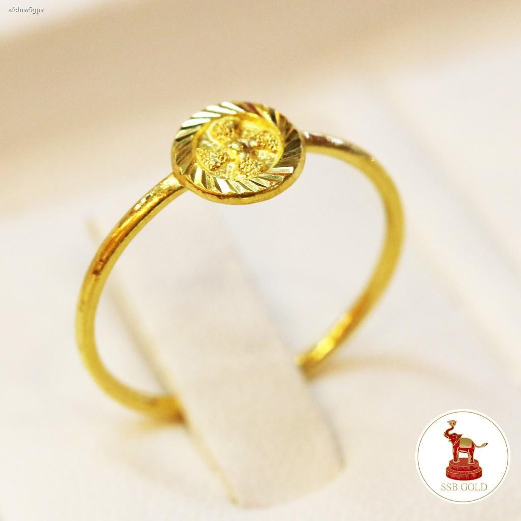 ราคาต่ำสุด✁[ถูกที่สุด] แหวนทอง 0.6 กรัม ทอง 96.5% ลายกังหัน (มีบริการเก็บปลายทาง)