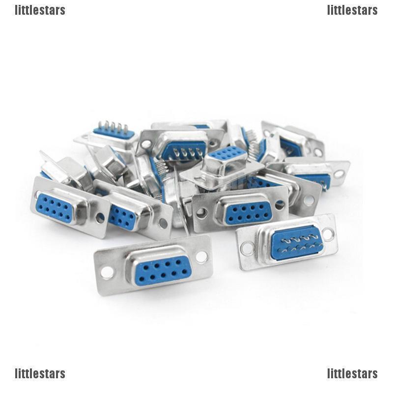 10pcs D-SUB 9 Pin DB9 Female Solder Type Socket Connector**