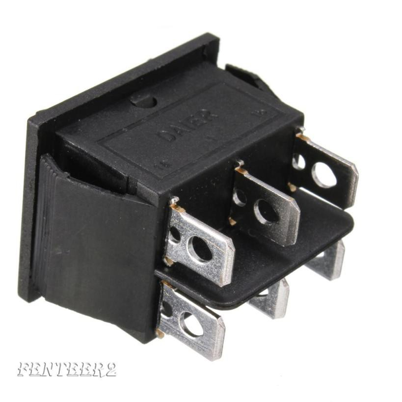 Car Auto On Off Momentary Rocker Switch Control 6 Pins 3 Position Power Button