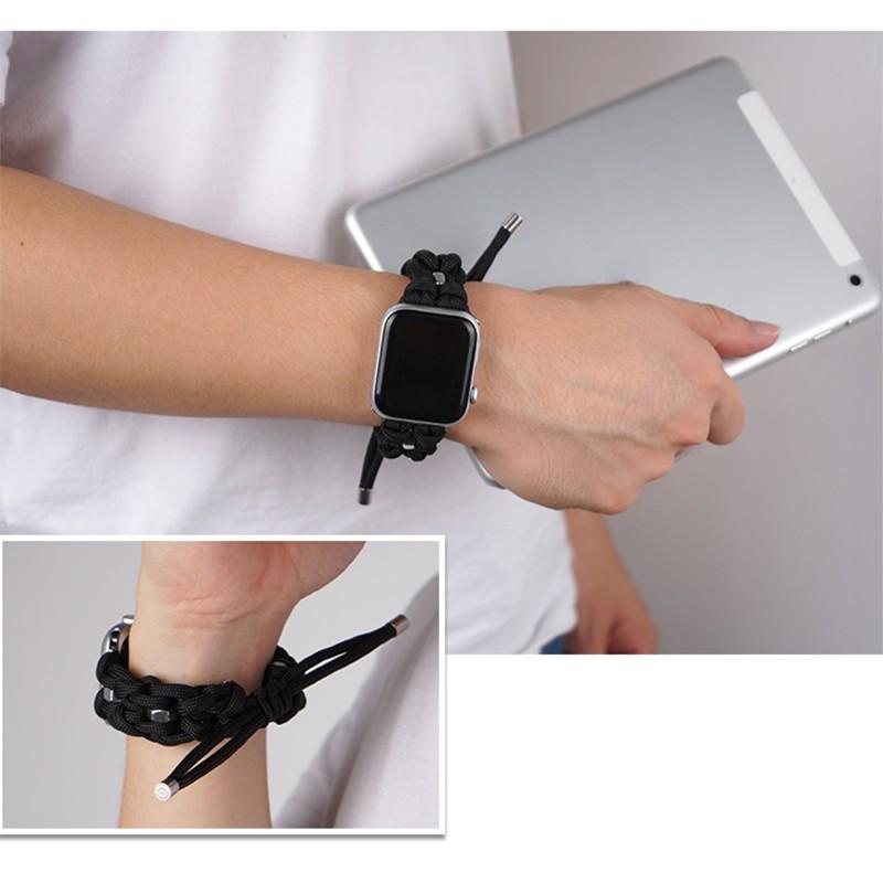 สายนาฬิกาข้อมือสายถักสําหรับ Apple Watch6