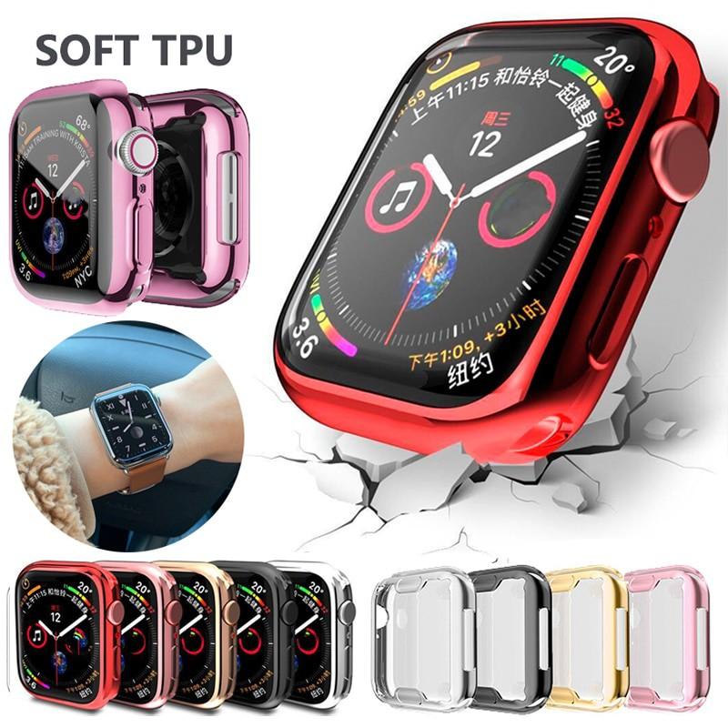 พร้อมส่ง/卐Watch Cover case For Apple series 6 SE 5 4 3 2 1 bands 42mm 38mm  40mm 44mm Slim TPU Protector iWatch