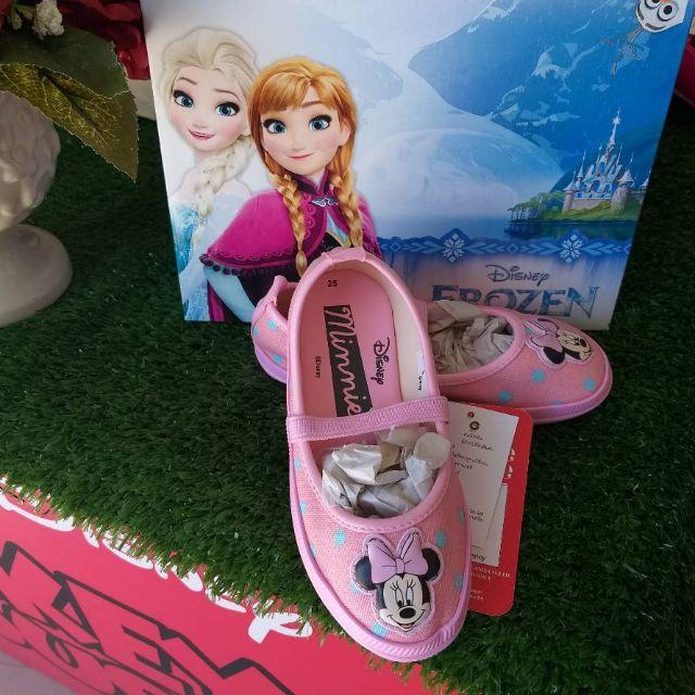 รองเท้าเด็ก Disney รองเท้าคัชชู🎀🎀  ❤Minnie Mouse❤ รุ่นใหม่พร้อมส่ง