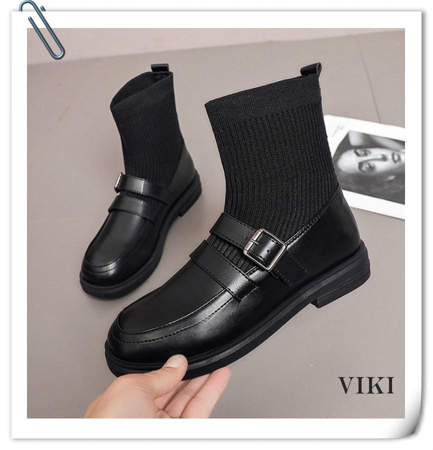 VIKI รองเท้าหุ้มข้อ รองเท้า รองเท้าคัทชูผู้หญิง รองเท้า รองเท้าลำลอง รองเท้านักเรียนหญิงสีดำ รองเท้าเกาหลีผู้หญิง รองเท้าคัชชูแฟชั่น รองเท้าลำลองสตรี รองเท้าคัชชูแฟชั่น รองเท้าเตะแฟชั่น รองเท้าส้นเตี้ยผู้หญิง