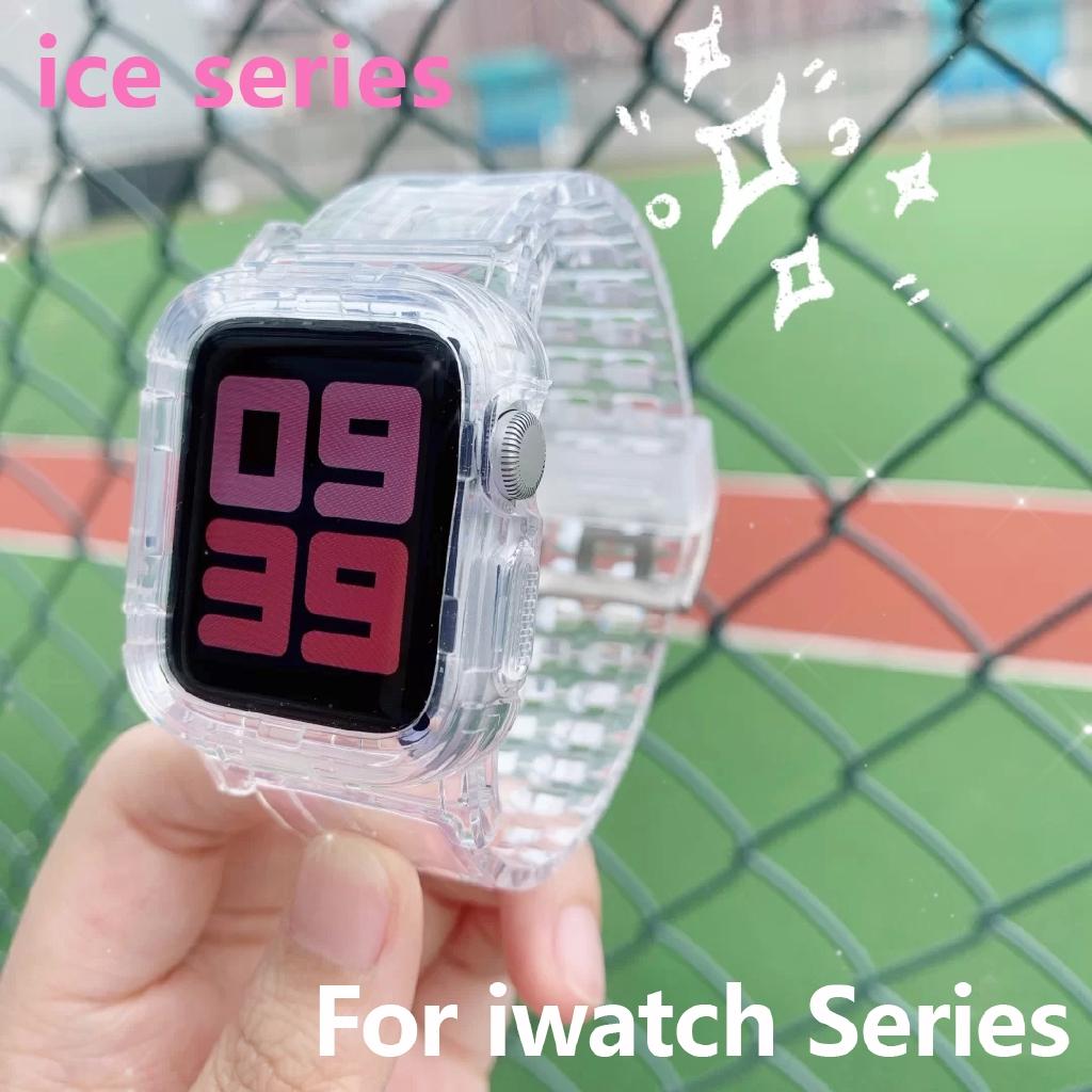 สายนาฬิกาข้อมือยางใสสําหรับ Apple Watch Band Series 5 4 3 2 1series สําหรับ Iwatch Band Series 38/40 /42/44 มม.