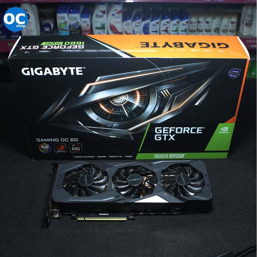 การ์ดจอ GTX1660 SUPER / 6GB GDDR6 GIGABYTE GAMING OC สามพัดลม หล่อๆ ครบกล่อง ประกันยาว ครับ
