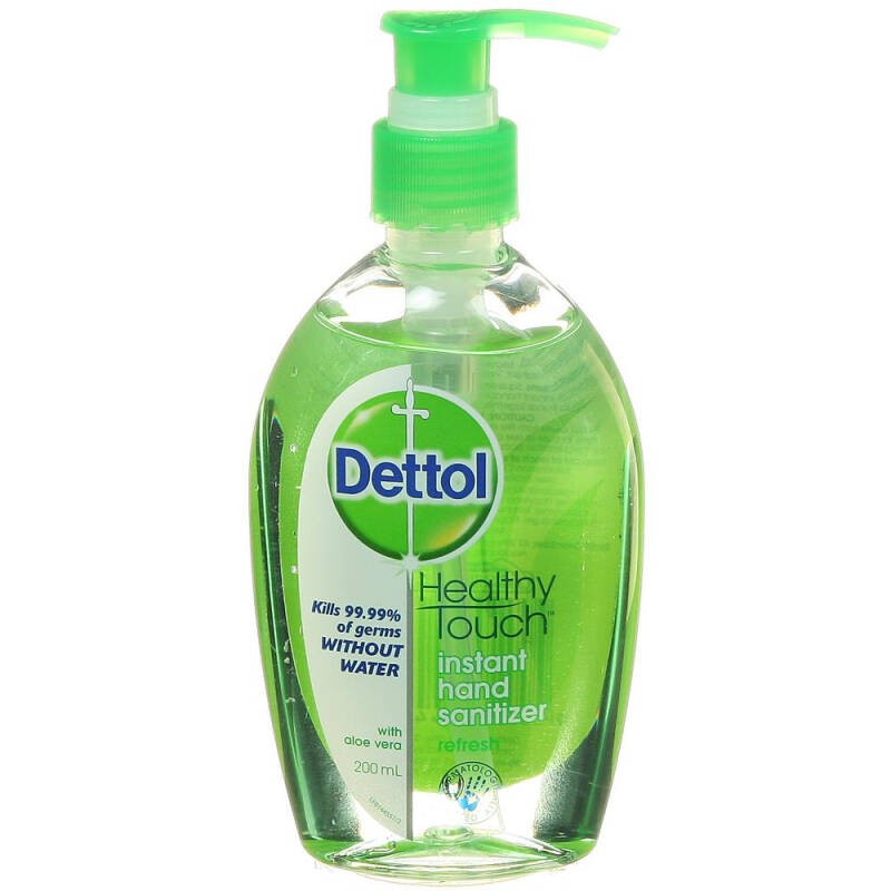 Dettol เดทตอล รีเฟรช เจลล้างมืออนามัย 200 ml สูตรหอมสดชื่น ผสมอโลเวร่า Instant Hand Sanitizer refresh