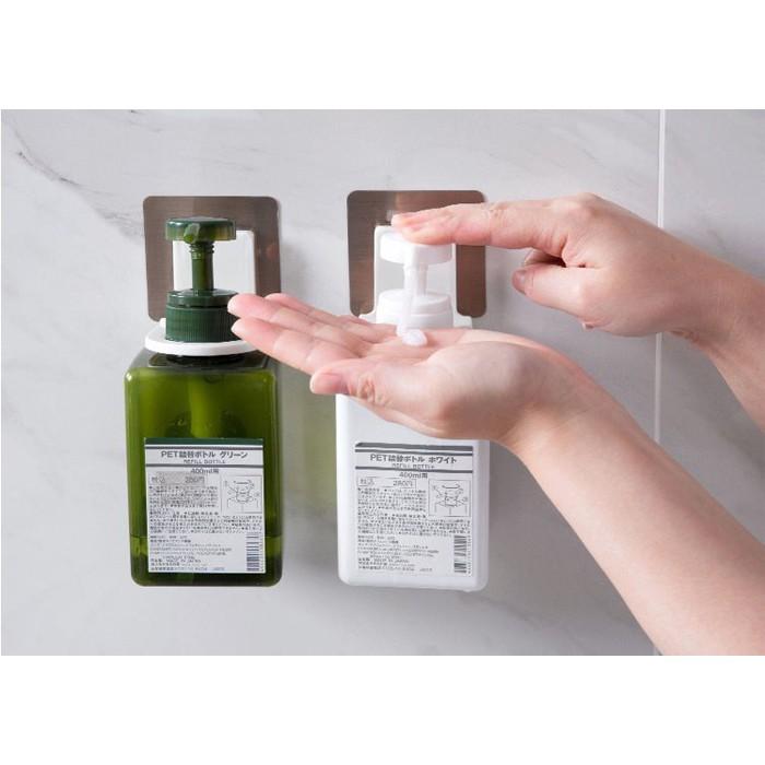 ที่แขวนขวดแชมพู ที่แขวนขวดครีมอาบน้ำ ที่แขวนขวดน้ำยาล้างจาน แบบขวดหัวปั๊ม