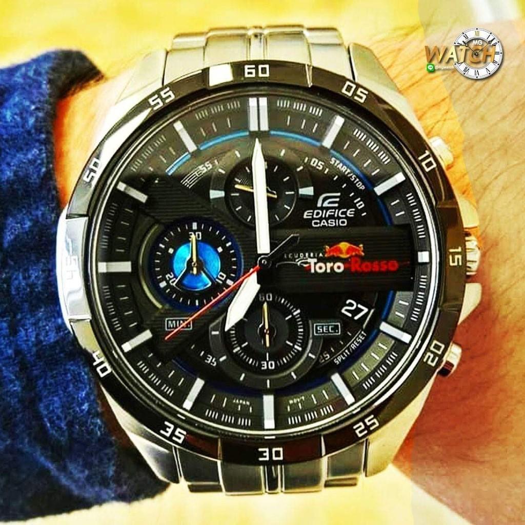 นาฬิกาข้อมือผู้ชาย Casio Edifice Chronograph บอกวันที่ ใช้ได้ทุกเข็ม สายสแตนเลส Mgwatch