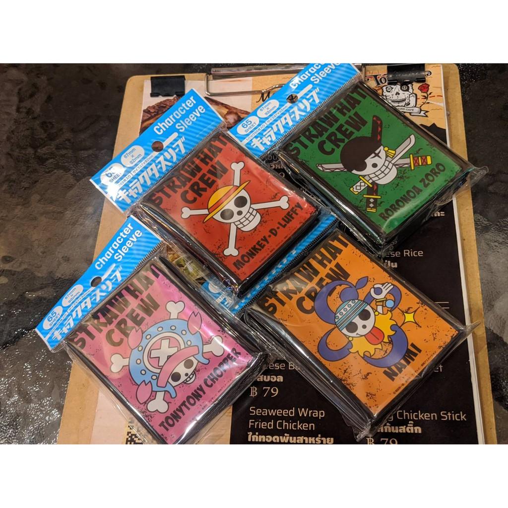 ซองใส่การ์ด วันพีซ ของแท้ นำเข้า Card Sleeve One Piece คุณภาพพรีเมี่ยม ขนาดมาตรฐาน TCG CCG Pokemon Buddy Fight 67x92mm