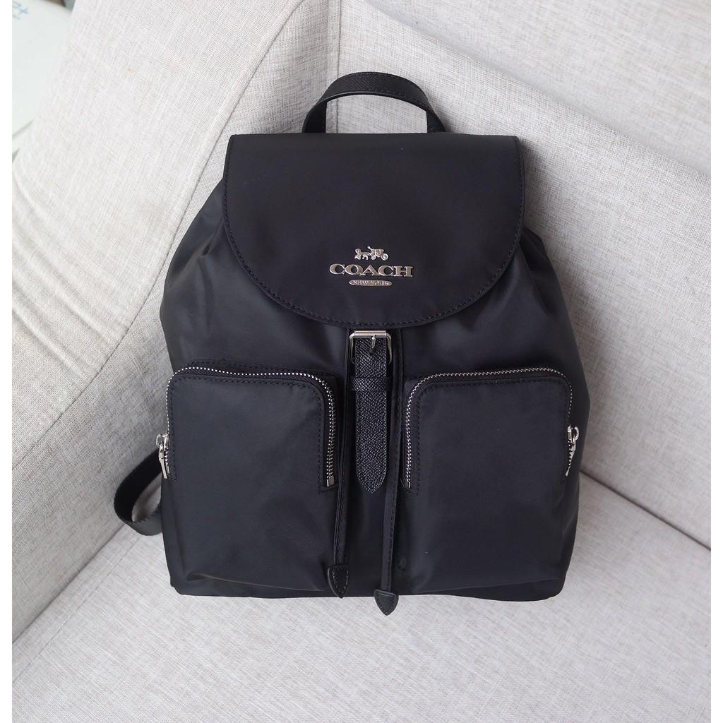 New Coach 25905 กระเป๋าเป้สะพายหลังผ้าแคนวาสไนล่อนขนาดใหญ่