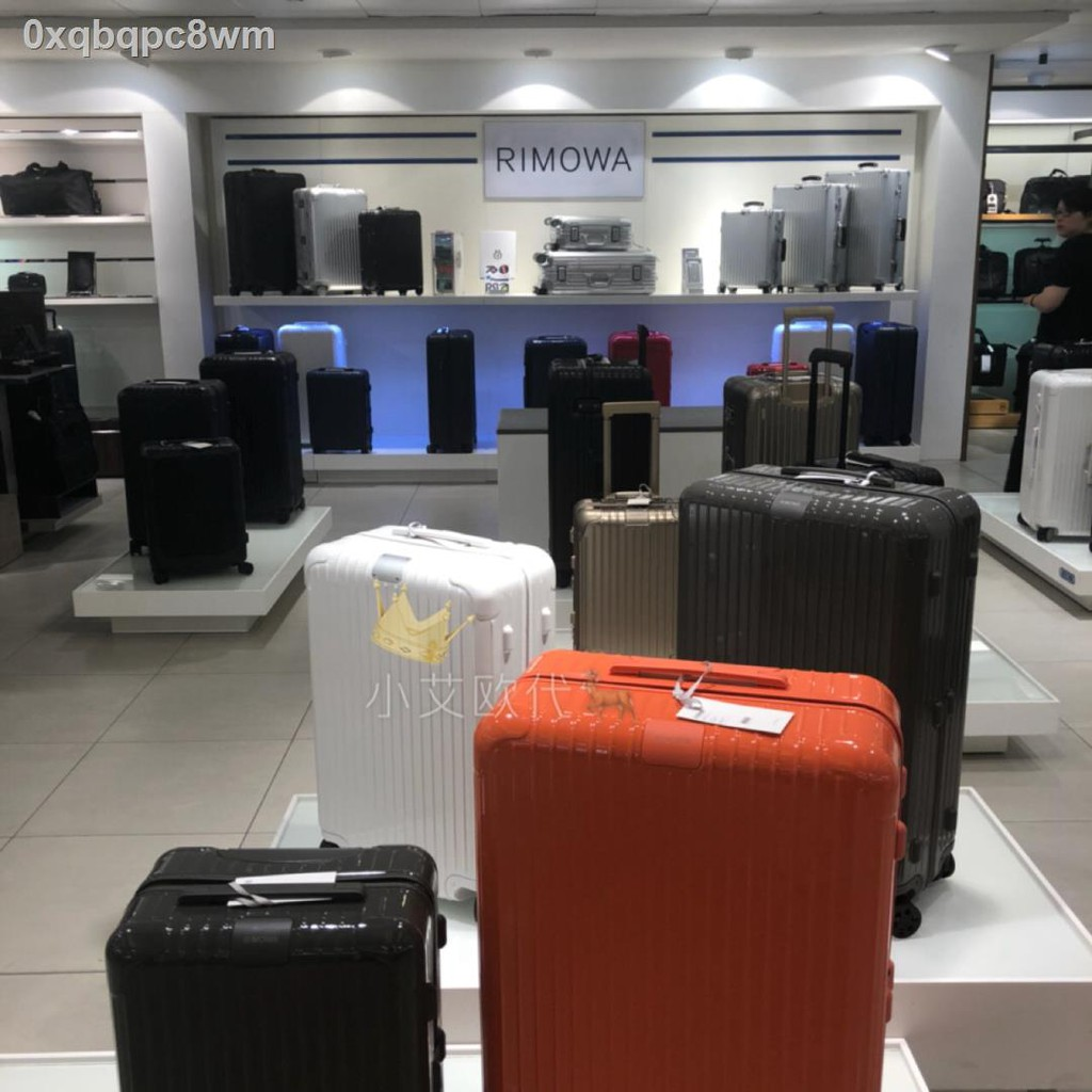 กระโปรงหลังรถ❄❅☍ซื้อกระเป๋าเดินทาง RIMOWA/กระเป๋าเดินทาง Rimowa กระเป๋าเดินทางแบบล้อลาก Essential Trunk ขนาด 31 นิ้ว กระ