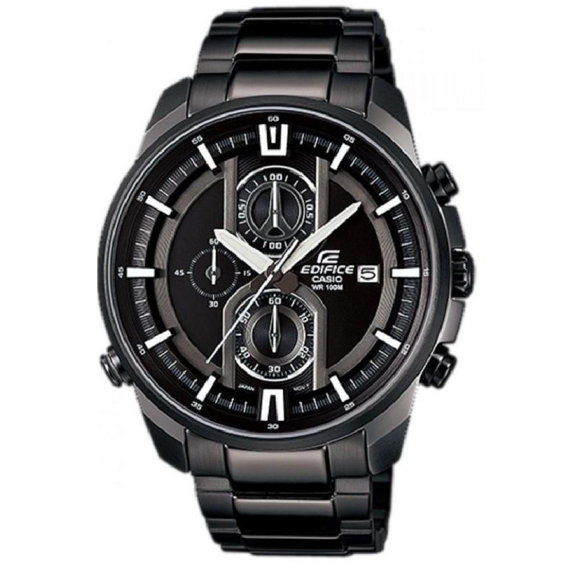 Casio EDIFICE CHRONOGRAPH นาฬิกาผู้ชาย สายสแตนเลส รุ่น EFR-533BK-1A - Black