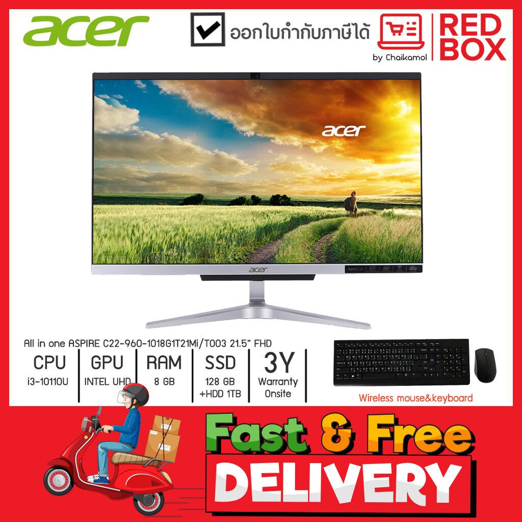"""Acer Aio All in one Aspire C22-960-1018G1T21Mi/T003 21.5"""" FHD / i3-10110U/8GB/1TB+ SSD 128GB / Win10 / 3Y onsite"""