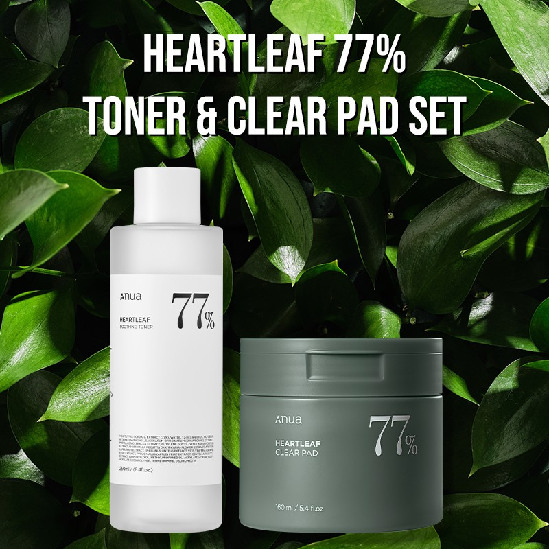 [ANUA]Heartleaf 77% Toner + Clear Pad SET