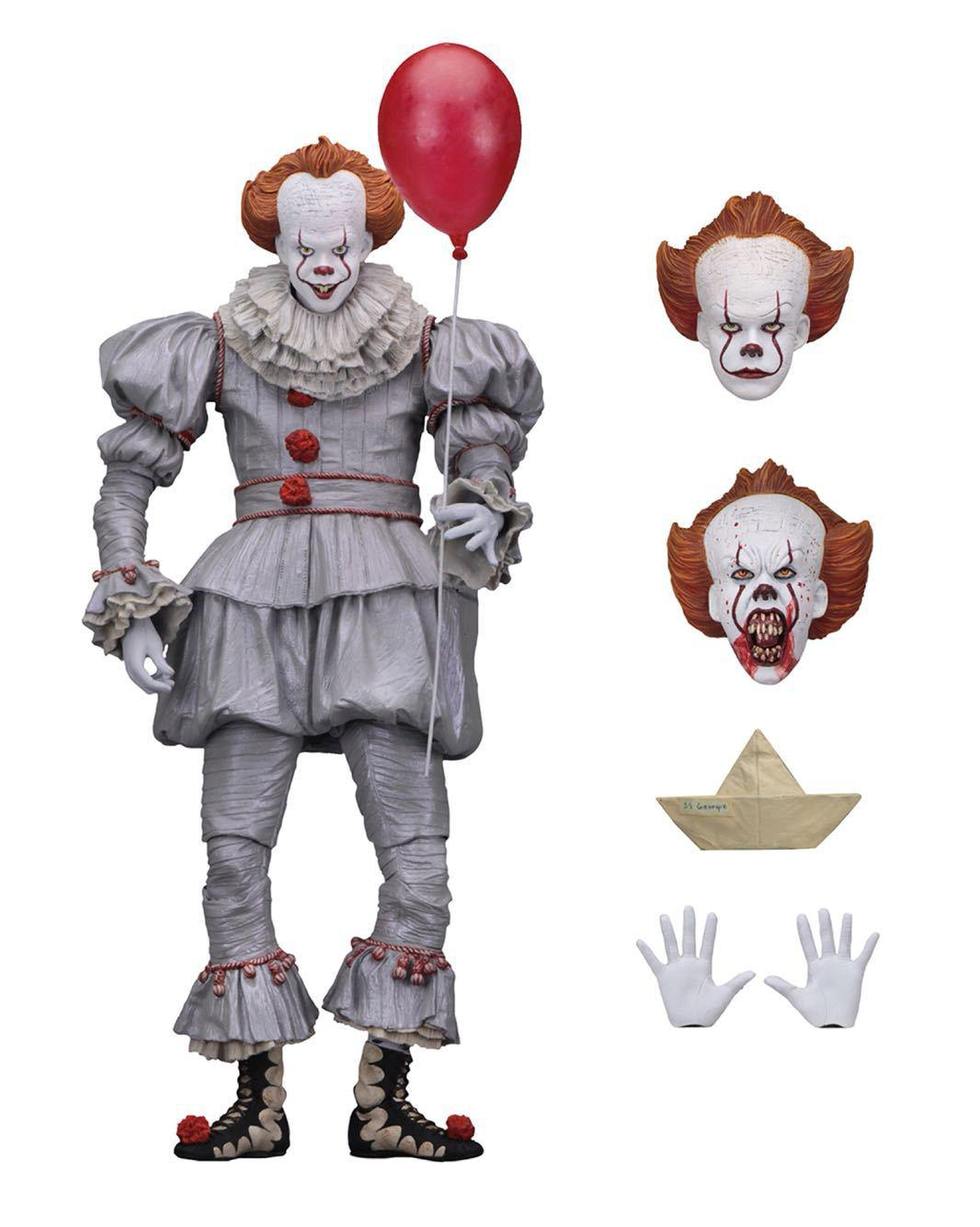 NECA original king Stephen's penywise clown BJD Action Figure Doll 18cm