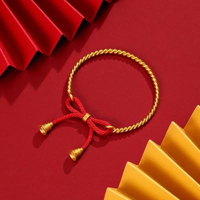 ✸♚สร้อยข้อมือเครื่องประดับChaohongji สร้อยข้อมือทองกุทัณฑ์สร้อยข้อมือเด็กเชือกสีแดงเด็กมงคลสร้อยข้อมือทองคำบริสุทธิ์ราคา