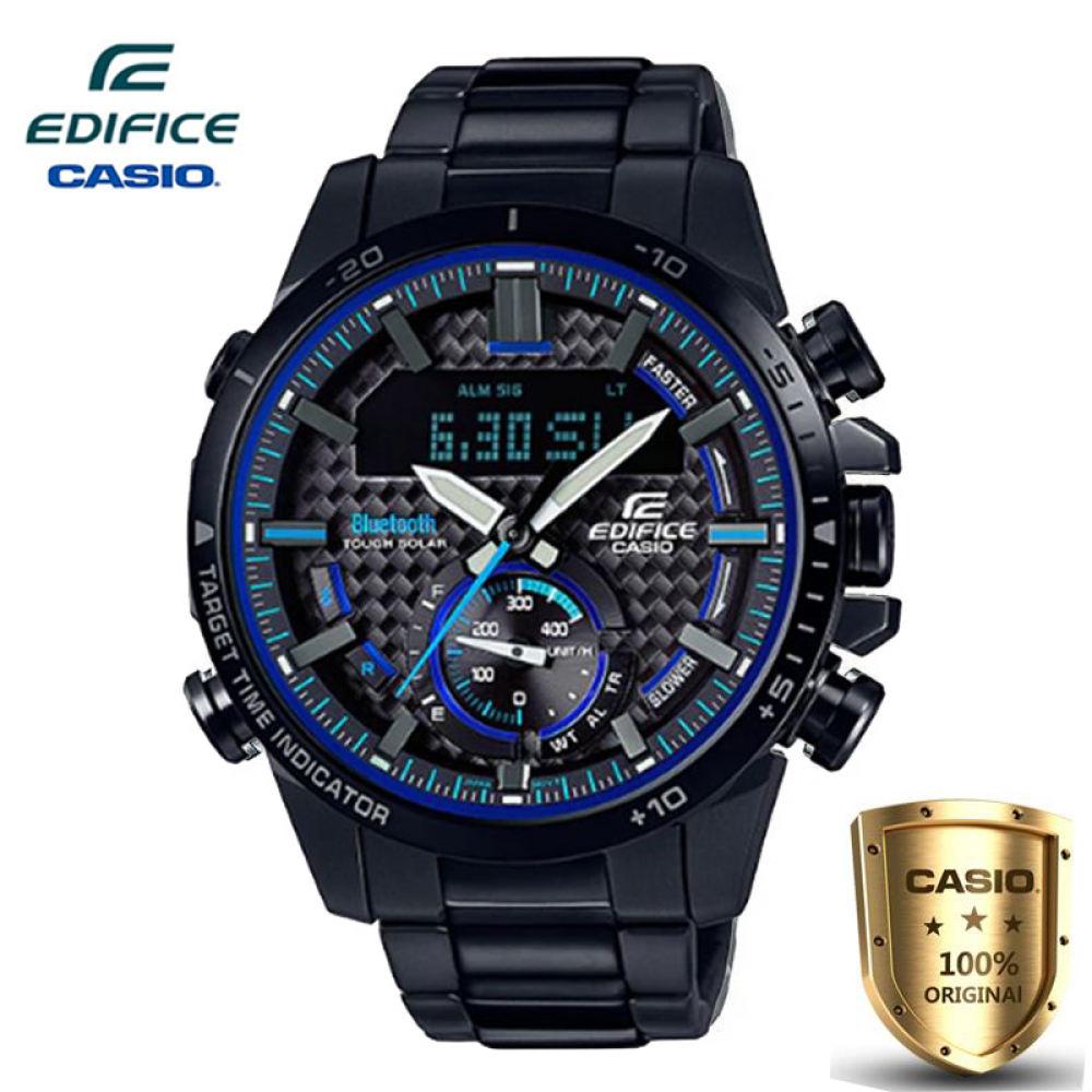 Casio Edifice LIMITED EDITION นาฬิกาข้อมือผู้ชาย สายสแตนเลส รุ่น ECB-800DC-1A(ของแท้100%)
