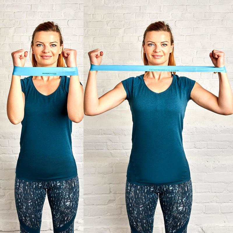 ยางยืดออกกำลังกาย DOMYOS ขนาดเล็กแพ็ค 3 ชิ้น ผ้ายืดออกกำลังกาย ยางยืดแรงต้าน  ยางยืดออกกำลังกายแรงต้านสูง